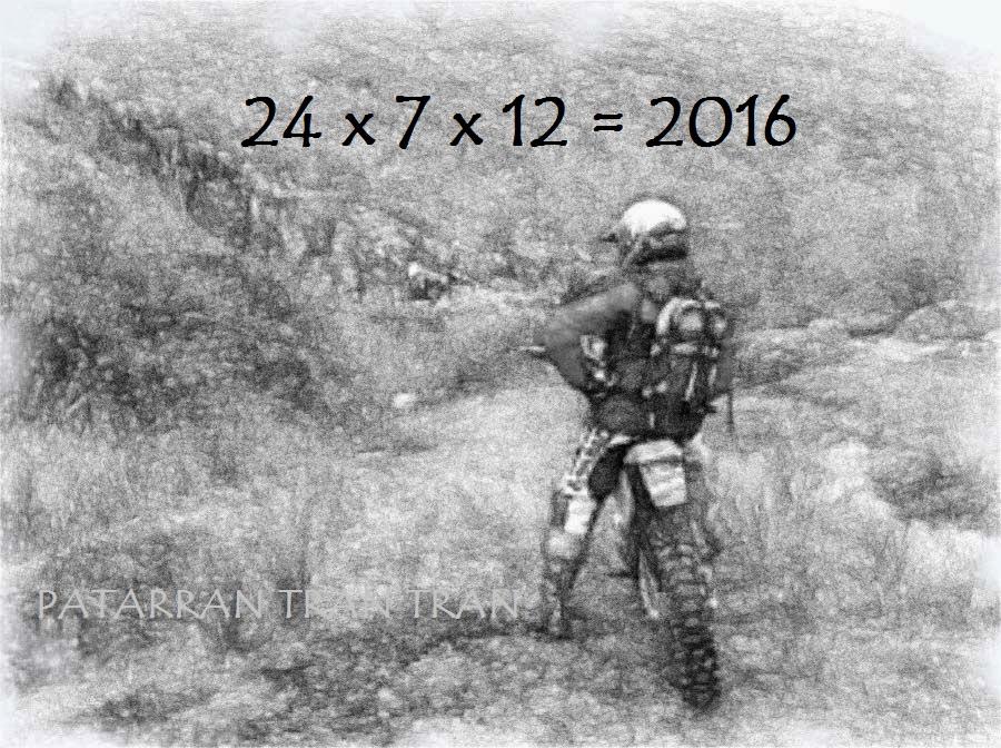 24 x 7 x 12 = 2016