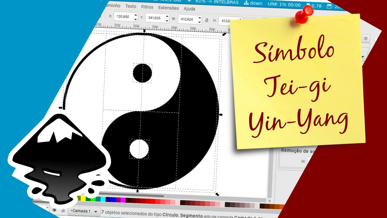 Criando o símbolo Tei-gi, Yin-Yang no Inkscape