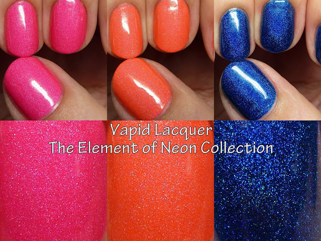 Vapid Lacquer Elements of Neon swatches