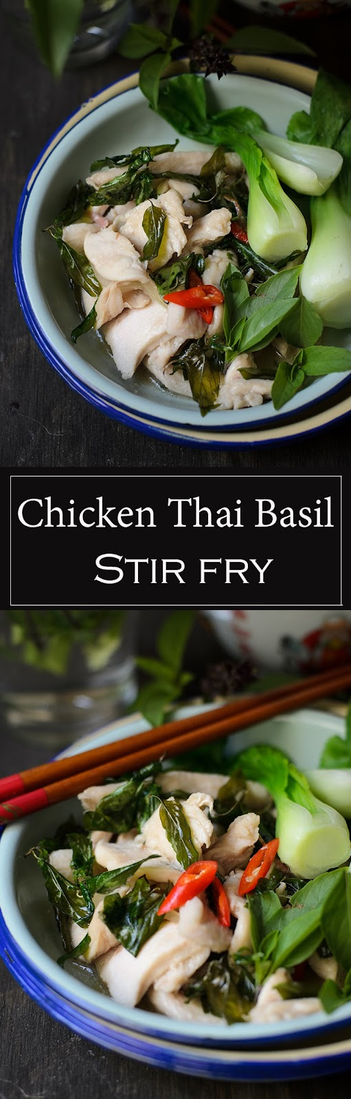 Quick Chicken Thai Basil Stir-fry for the busy mid-week quick dinner.