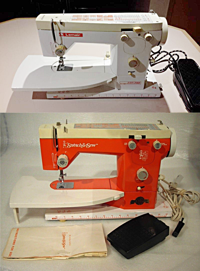 "On a whim I did a Google image search on ""Sewing machine E75"" and the first  image was an exact match for this Lemair entitled, ""Gorgeous 1970's Orange  ..."