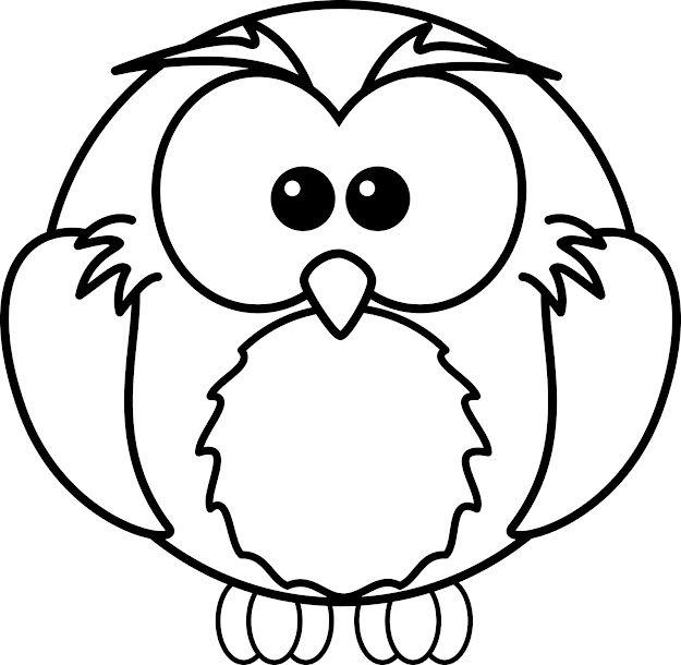 Cartoon Owl Coloring Pages