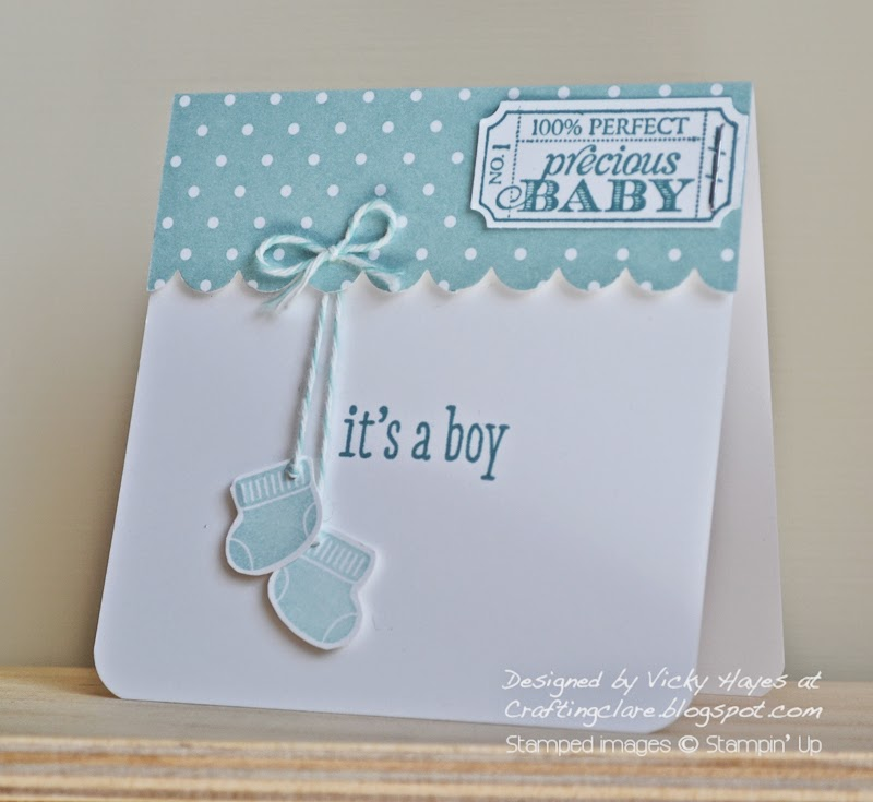 crafting inspiration from vicky at crafting clare's paper