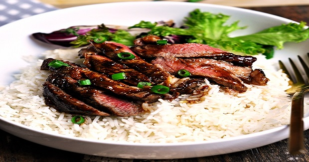Garlic & Ginger Soy Caramelised Steak Recipe