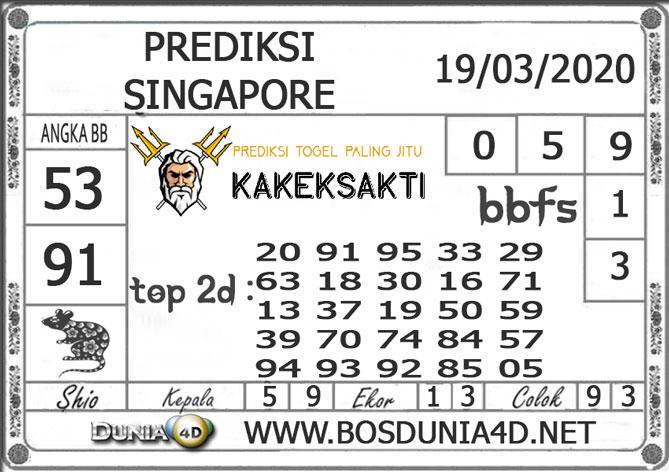 Prediksi Togel SINGAPORE DUNIA4D 19 MARET 2020