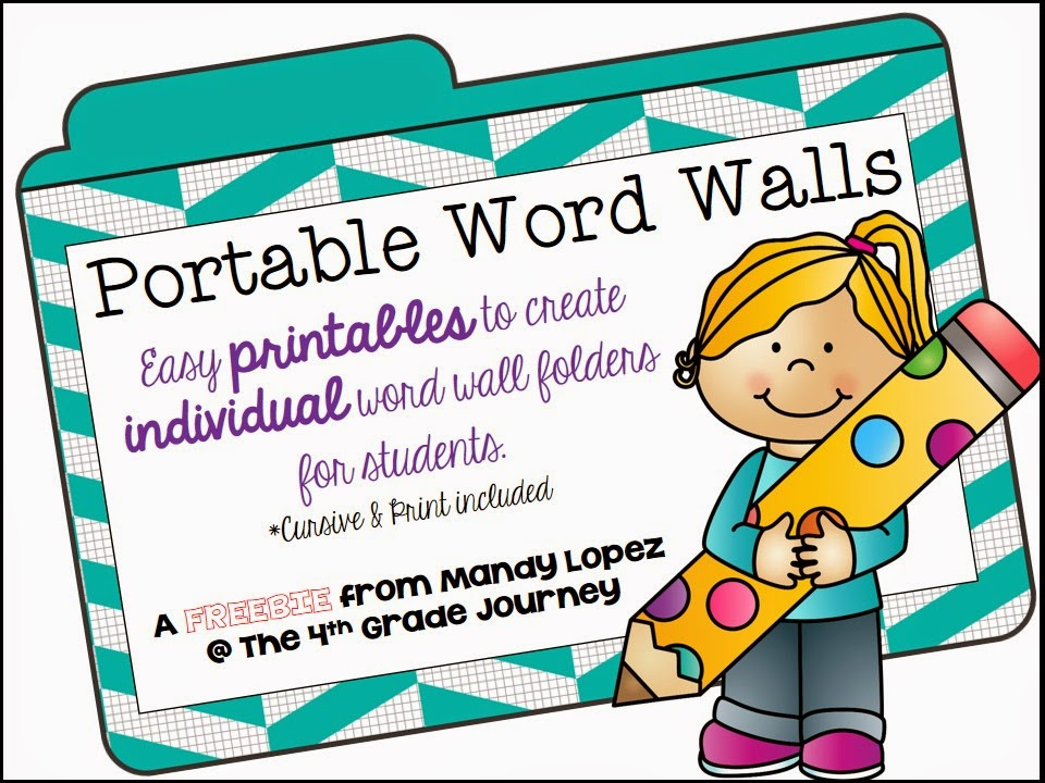 The {4th Grade} Journey Portable Word Wall FREEBIE