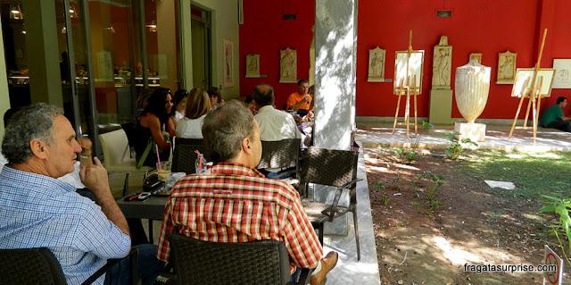 Café do Museu Nacional de Arqueologia de Atenas, Grécia