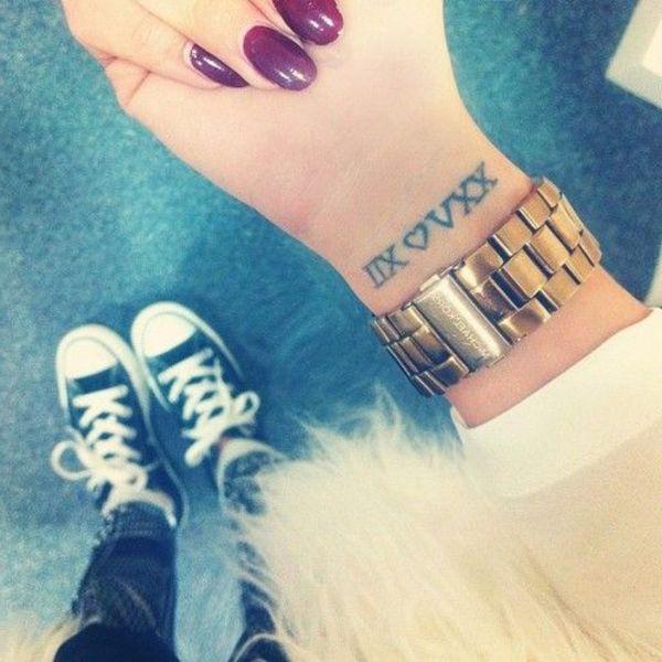 Fechas En Numeros Romanos Tatuajes