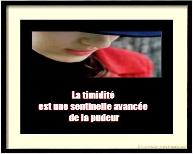 Une citation sur la timidité en image
