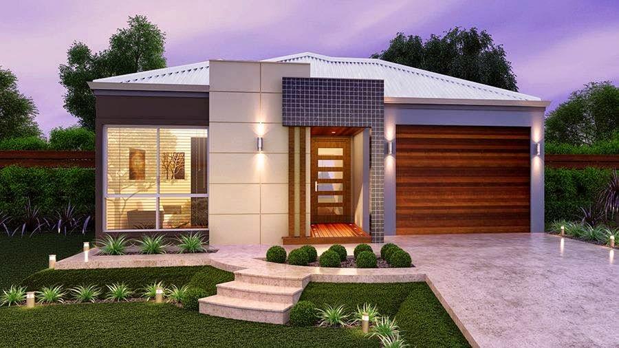 26 inspira es de fachadas de casas simples e pequenas for Casa moderna 6x6