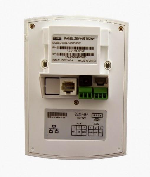 Panel bramowy wideodomofonów IP BCS-PAN1100W z czytnikiem kart zbliżeniowych