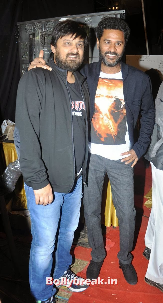 Wajid and Prabhu Deva, Bollywood Celebs at Umang Police Show 2014