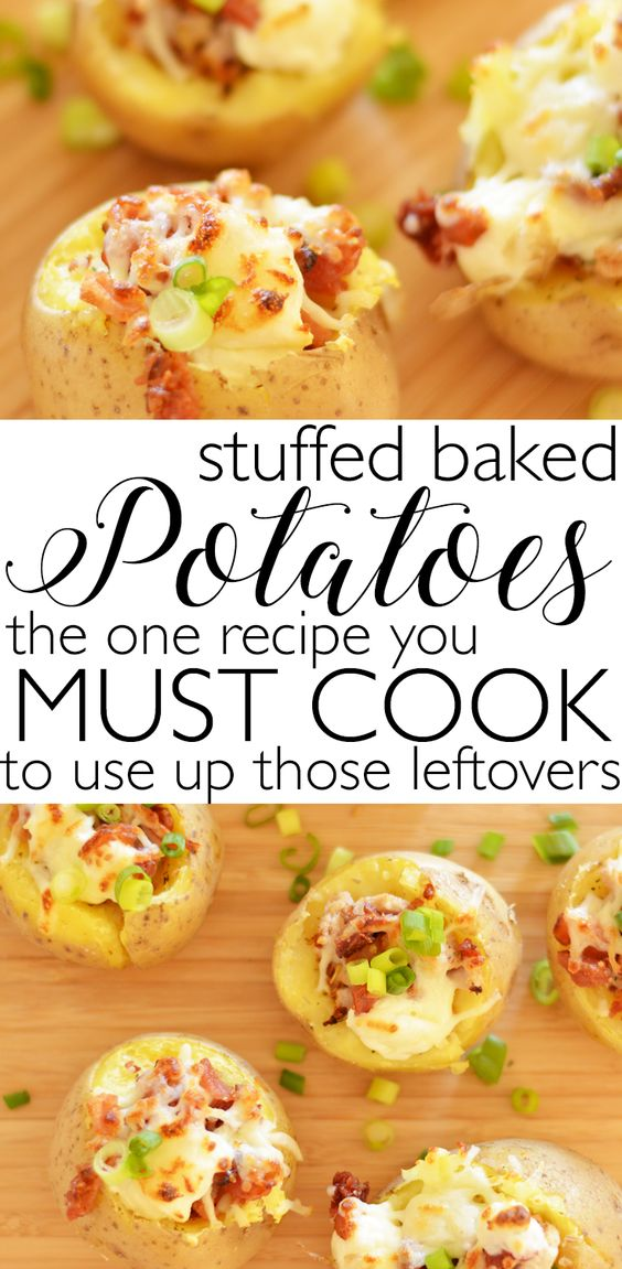 The Best Stuffed Baked Potatoes (Use Up Those Leftovers)