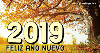 2019 happy New year in Spanish Language