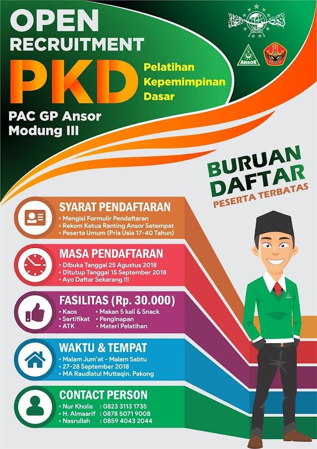Yuk Ikut PKD GP Ansor Modung III, Begini Syaratnya