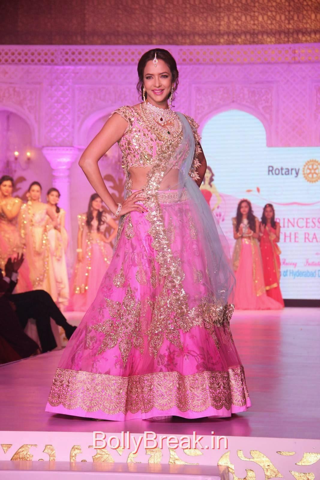 Manchu Lakshmi Stills in pink Lehenga, Manchu Lakshmi Pics in Bridal Lehenga Choli