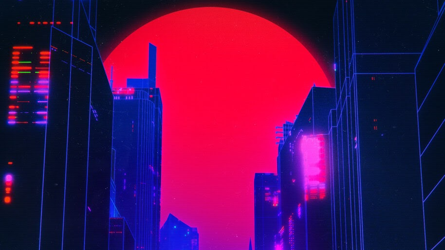 City, Buildings, Digital Art, 4K, #4.2055