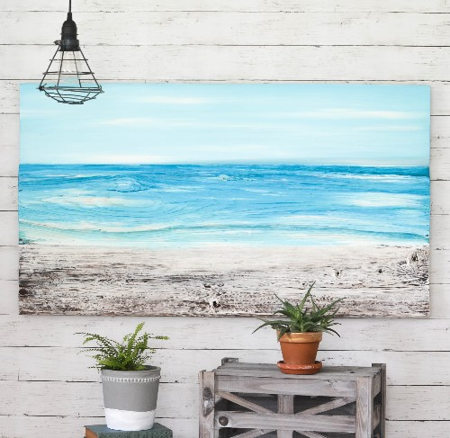 Ocean Paintings on Wood