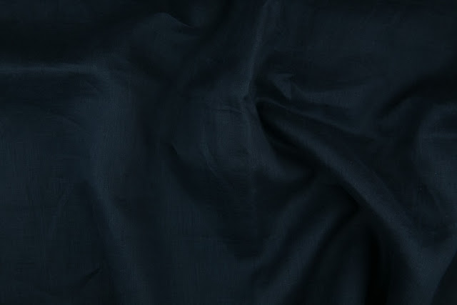 Navy Handkerchief Linen Fabric