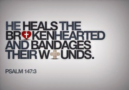 Jesus heals the brokenhearted and bandages their wounds Psalm 147:3