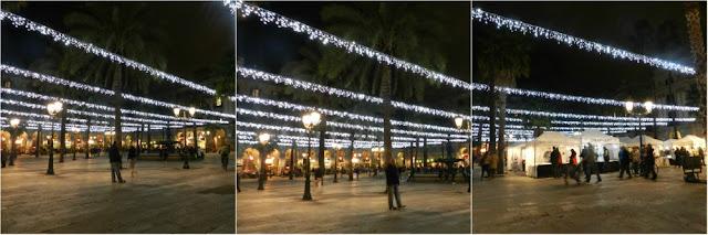 Mercados e decoração de Natal em Barcelona 2016 - Plaça Reial