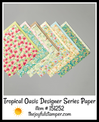 Stampin' Up! Tropical Oasis Designer Series Paper | Nicole Steele The Joyful Stamper