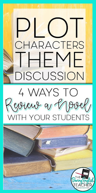 Four ways to review a novel with your middle school ELA and high school English students