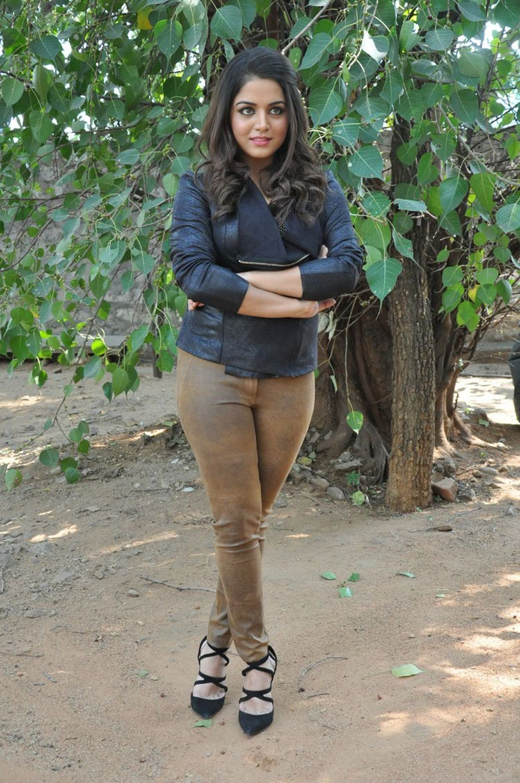 Glamours Actress Wamiqa Gabbi Hot Stills In Black Top Jeans