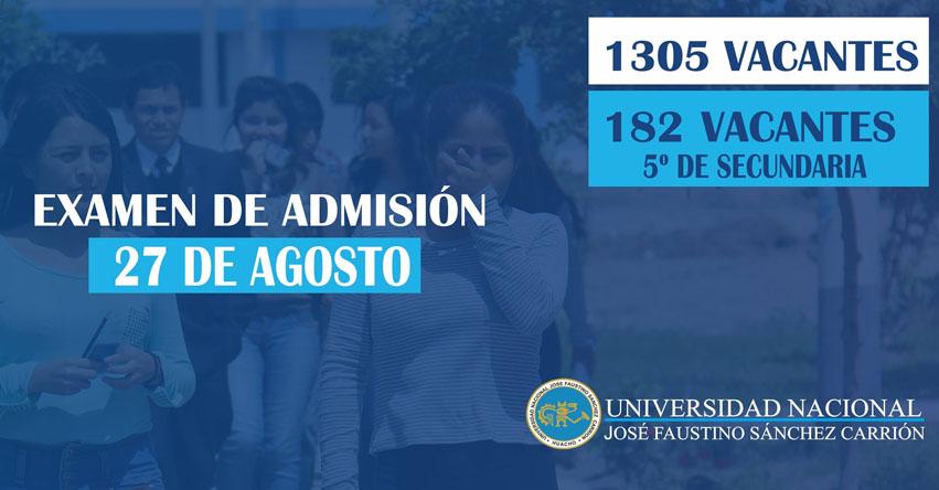 UNJFSC publicó Resultados Examen Admisión 2017-2 (27 Agosto) Lista Ingresantes Huacho, Lunahuana - Universidad Nacional José Faustino Sánchez Carrión - www.unjfsc.edu.pe