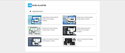 Cara Membuat Related Post Material Design di Blog by idblanter.com