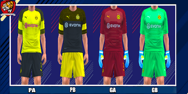 Borussia Dortmund 18/19 Kits - PES PSP (PPSSPP)