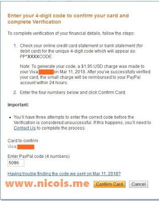 masukan 4 digit kode verifikasi