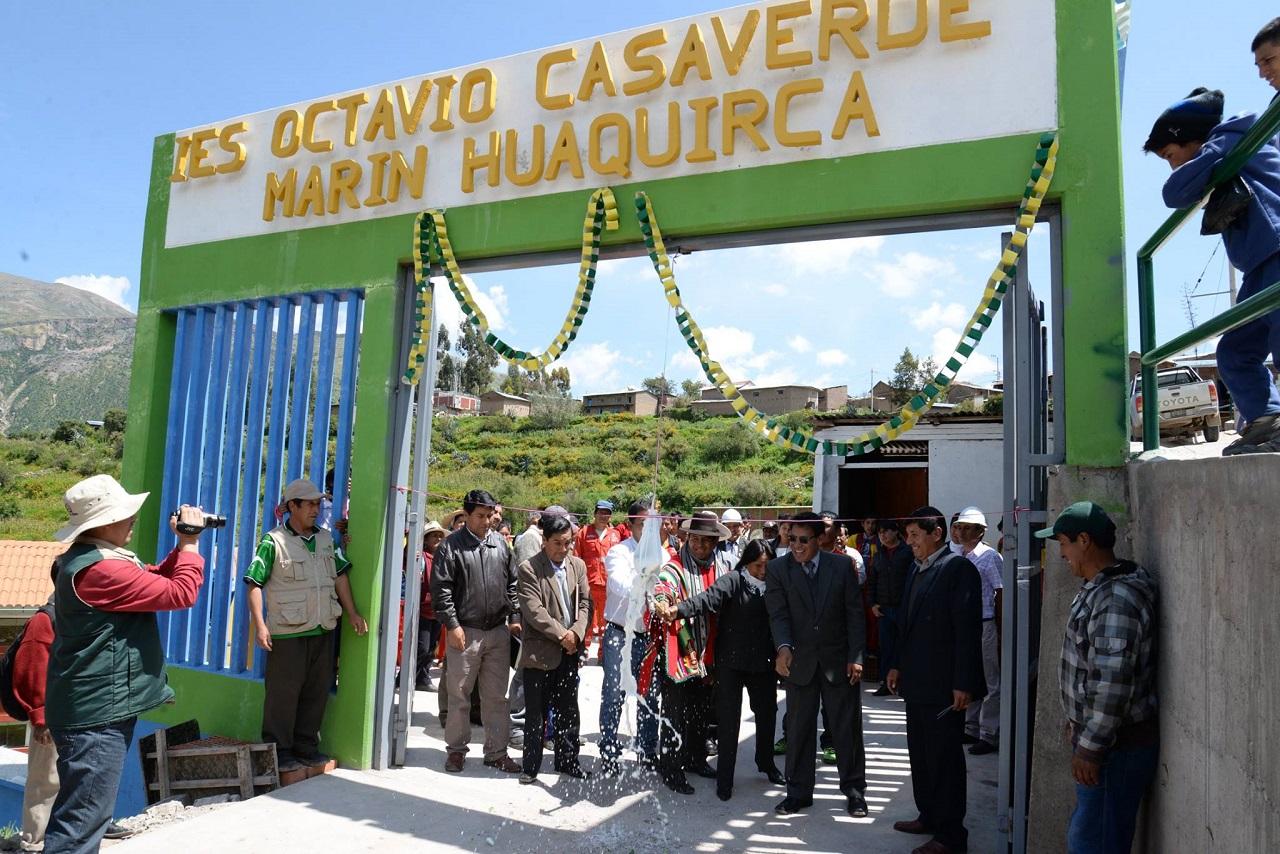 Colegio OCTAVIO CASAVERDE MARIN - Huaquirca