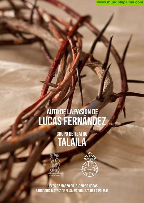 """El grupo de teatro Talaila representará esta tarde """"El Auto de la Pasión"""" de Lucas Fernández, en la Parroquia Matriz de El Salvador"""