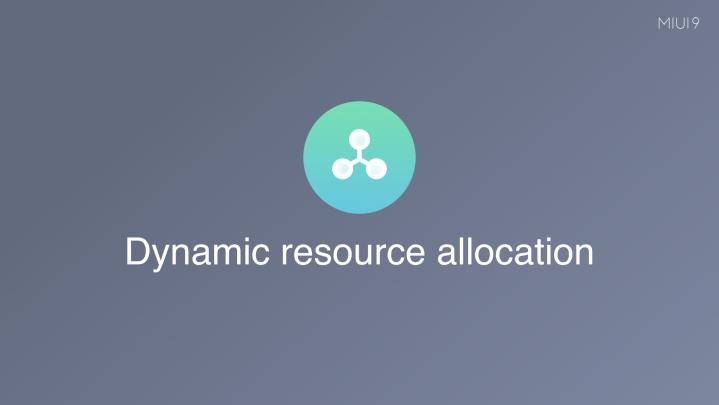 Dynamic Resource Allocation di Miui 9