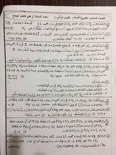 أهم مرشحات الكيمياء لمختلف المدرسين على مستوى العراق للدور الاول 2017