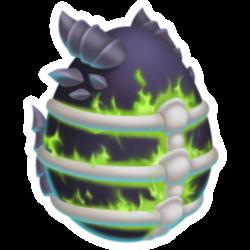 Apariencia del Dragón Destructor de Maldad de huevo.