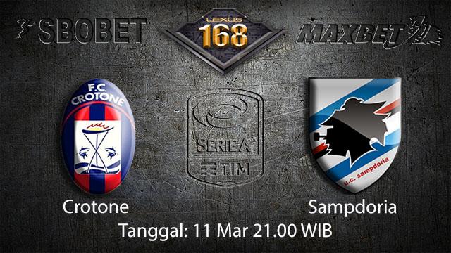 BOLA88 - PREDIKSI TARUHAN BOLA CROTONE VS SAMPDORIA 11 MARET 2018 ( ITALIAN SERIE A )