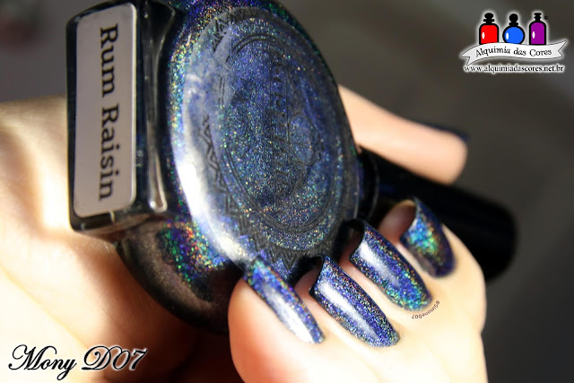 POP Polish, Rum Raisin, Holográfico, Azul Marinho, Fall Holo Collection,