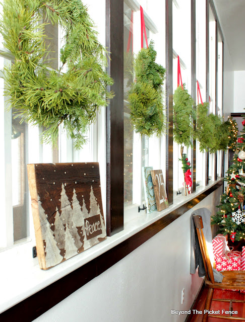 christmas decor including a simple sign in my old schoolhouse
