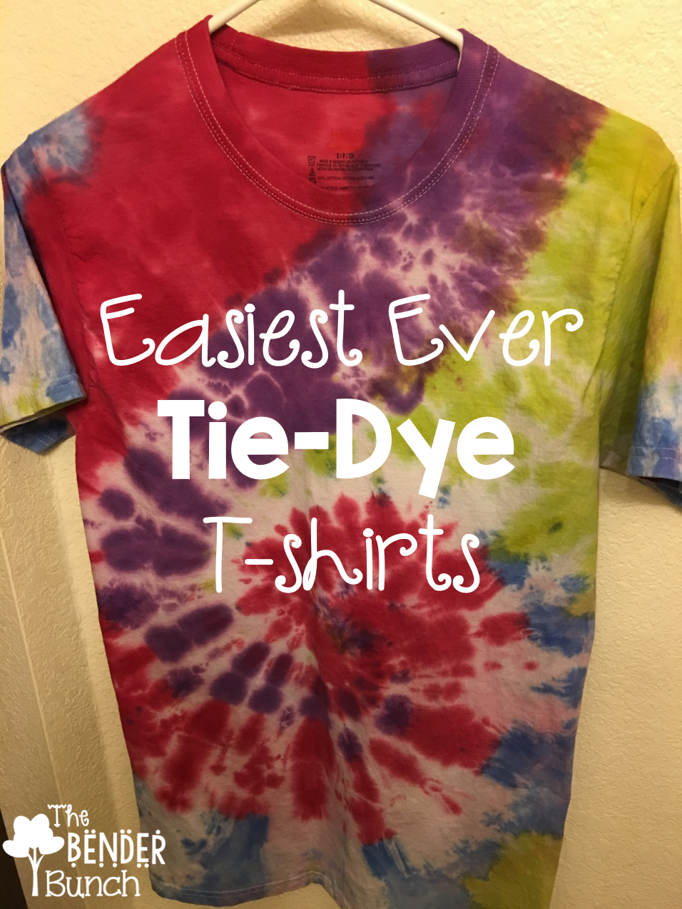 The bender bunch simple tie dye t shirt tutorial simple tie dye t shirt tutorial baditri Gallery