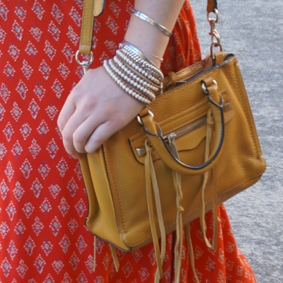 Roie Designs waxed leather cream howlite beaded wrap bracelet, Rebecca Minkoff Micro Regan bag | AwayFromTheBlue