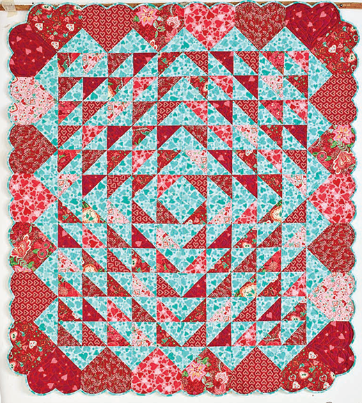 Hearts Afloat Quilt Free Pattern