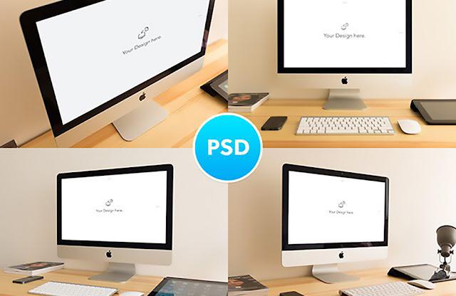 iMac PSD Mockups