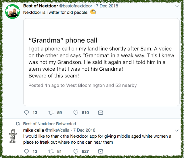 Nextdoor App gives middle aged white women a place to freak out. Nextdoor App Hilarious Post marchmatron.com