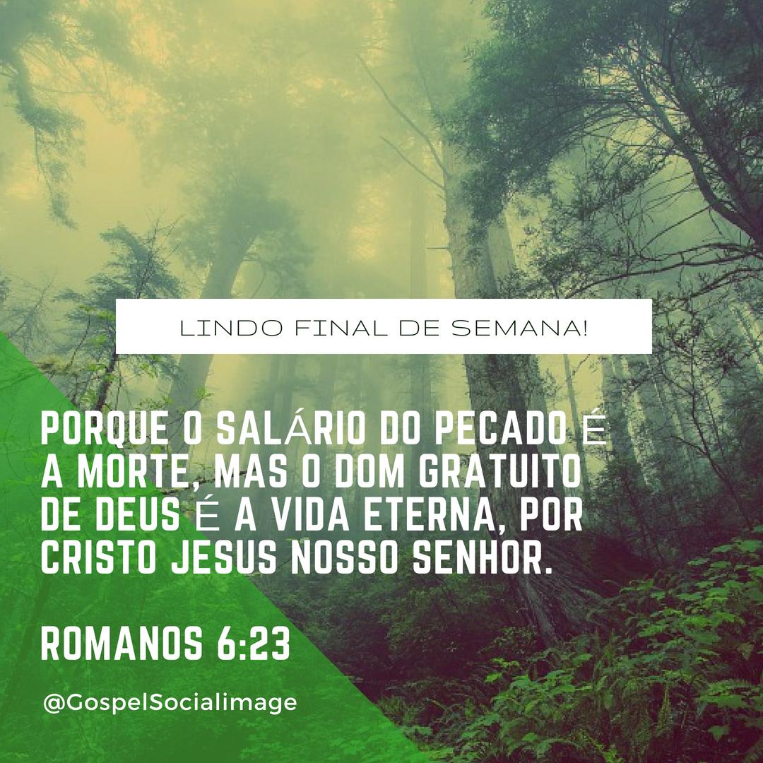 Imagens Bíblicas com Versículos - Romanos 6.23