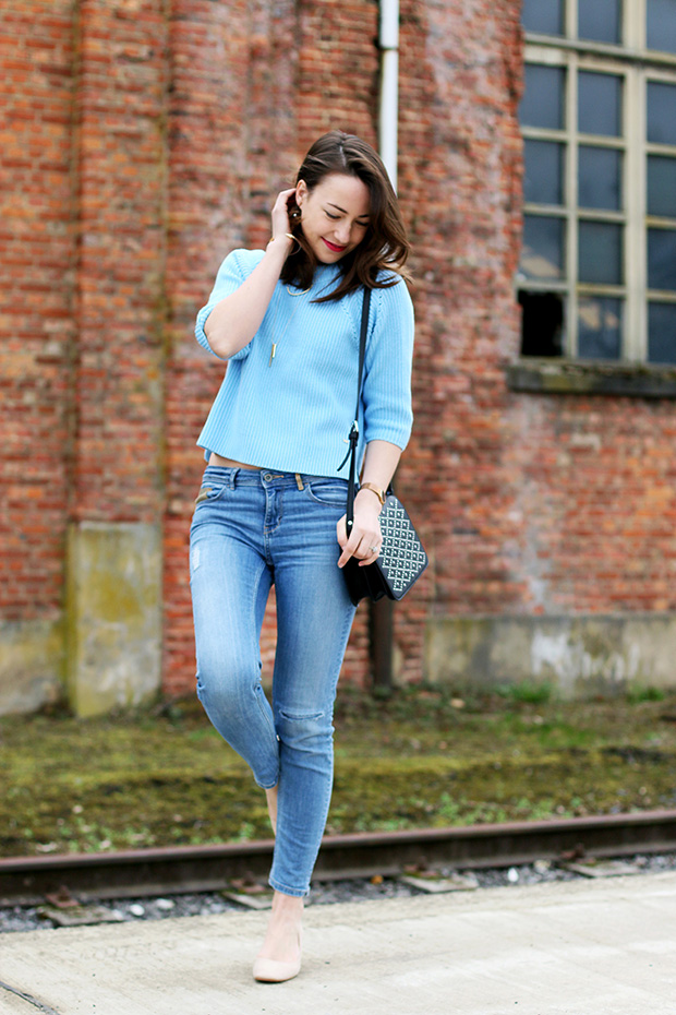 styling cropped sweater/Simply Magnifique blog