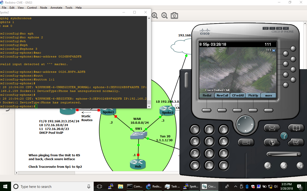 Networking: Cisco Softphone register to a router in GNS3