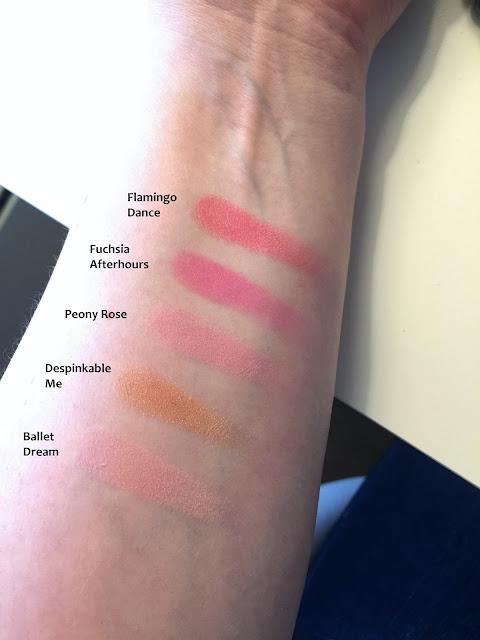 infallible blush paint pinks swatch kokemuksia haul