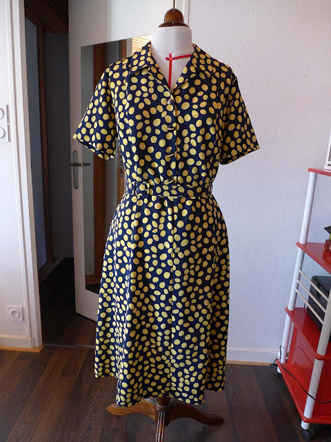 robe rétro à motifs citron